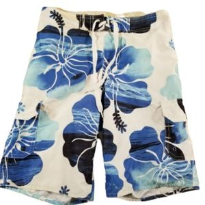 HANG 10 boys small Swimsuit blue and white